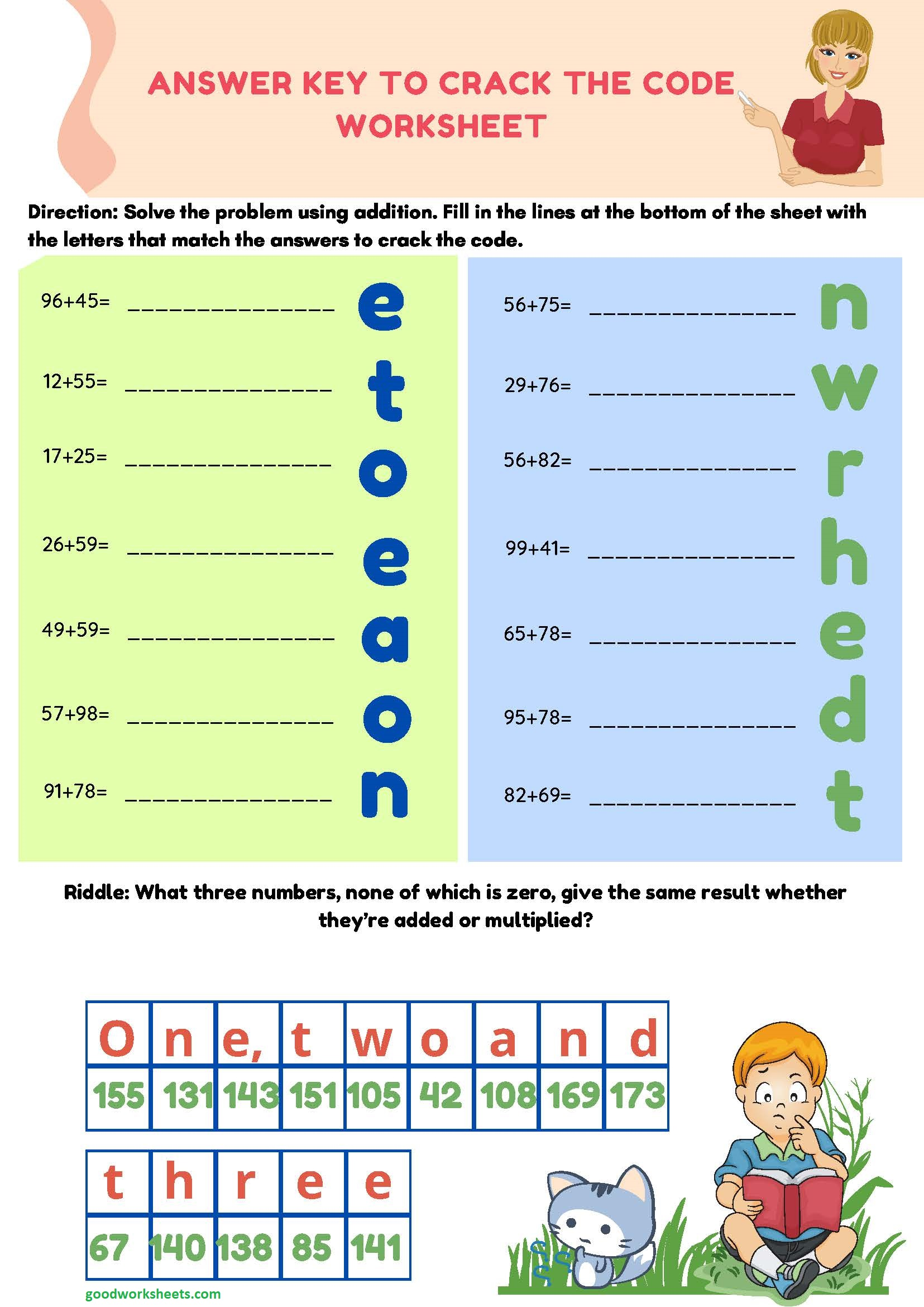 Crack The Code Worksheets Answer Key