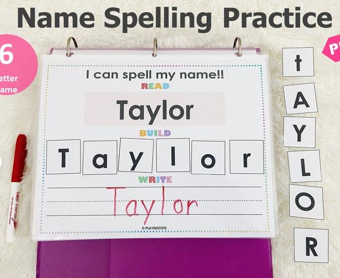 Editable Tracing Name Book