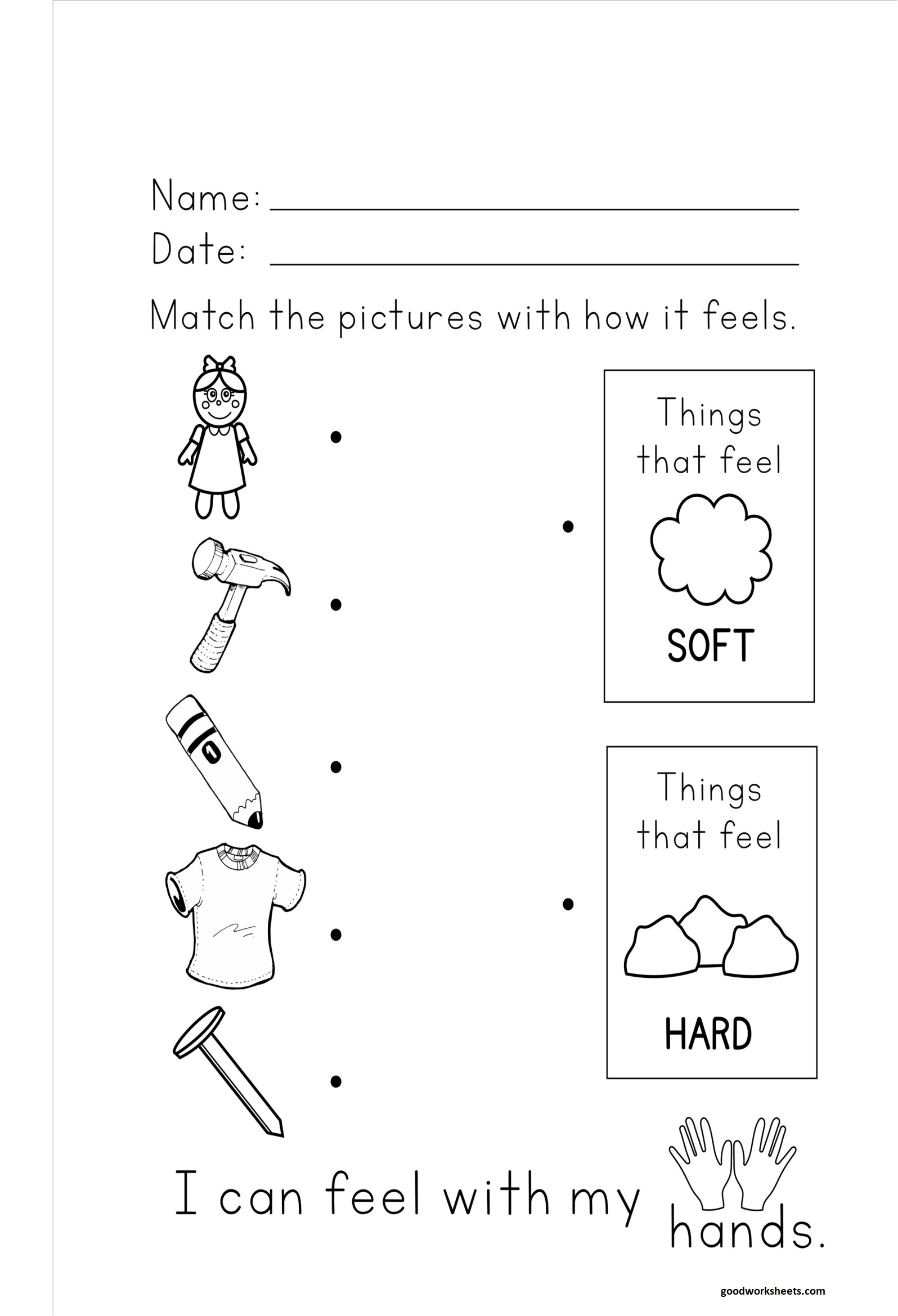 Hard and Soft Worksheets