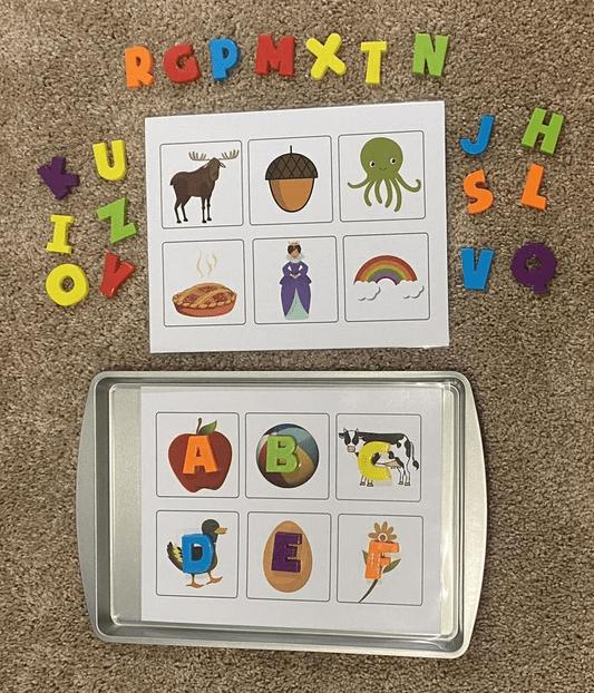 Magnetic Letters Worksheets for Kindergarten