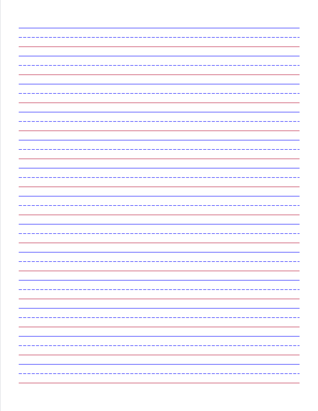 Name Tracing With Blue Red Blue Lines