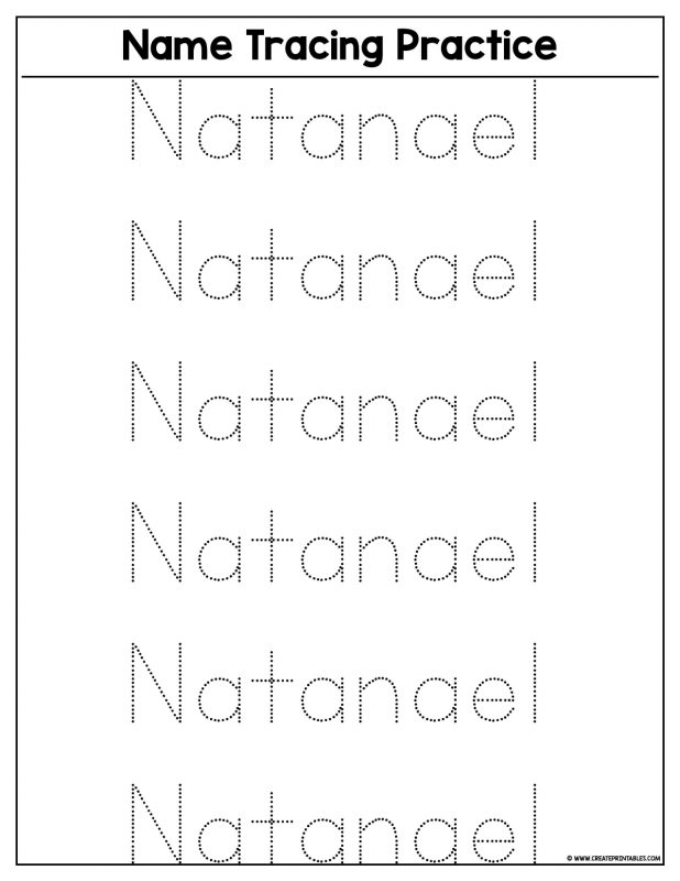 Free Name Tracing Worksheets For Preschool