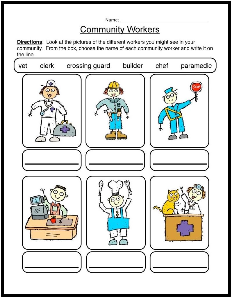 Workers In The Community Worksheets