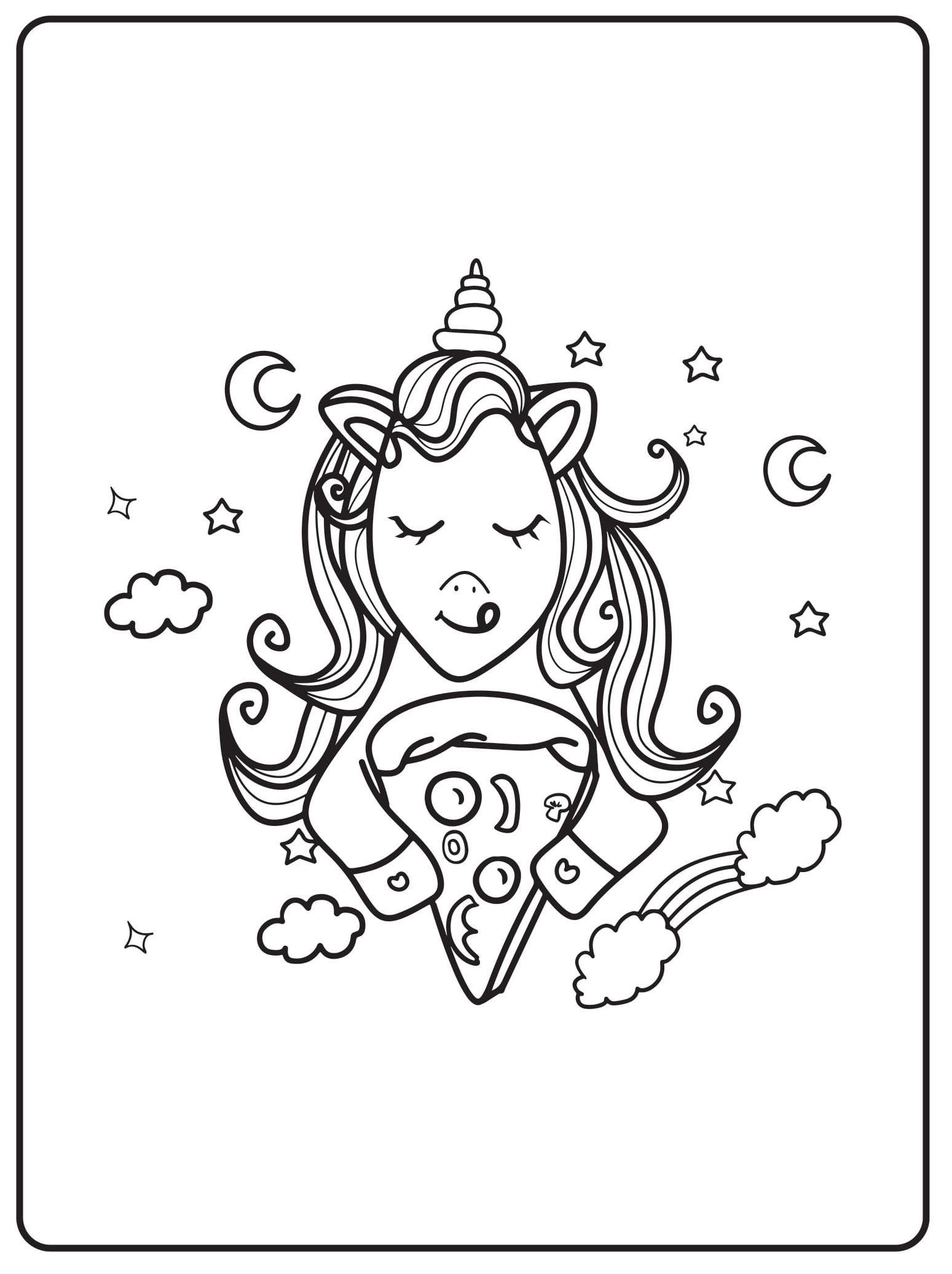 Unicorn Coloring Pages 09