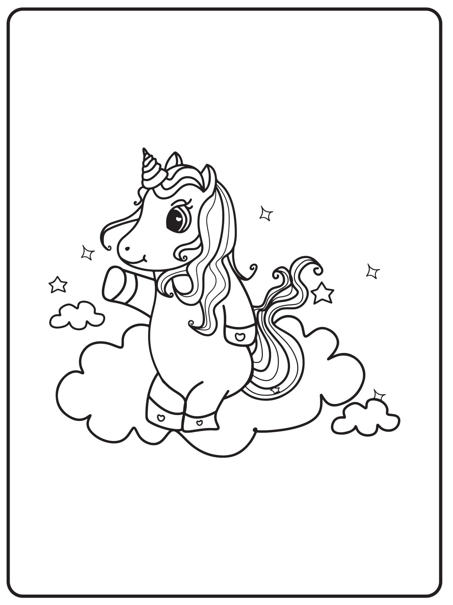 Unicorn Coloring Pages 13