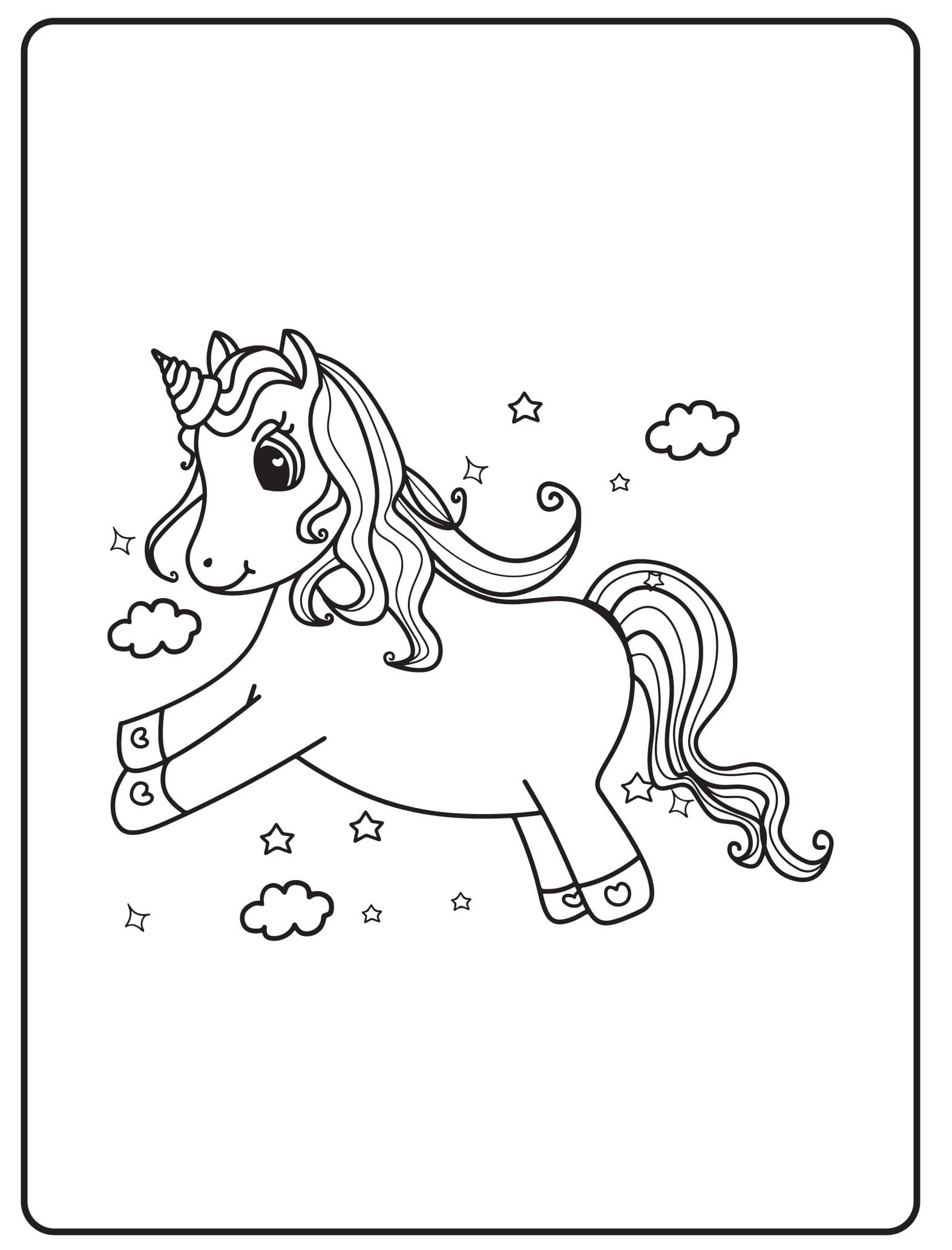 Unicorn Coloring Pages 15