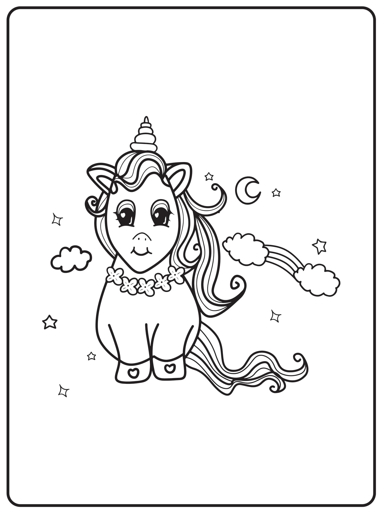 Unicorn Coloring Pages 17