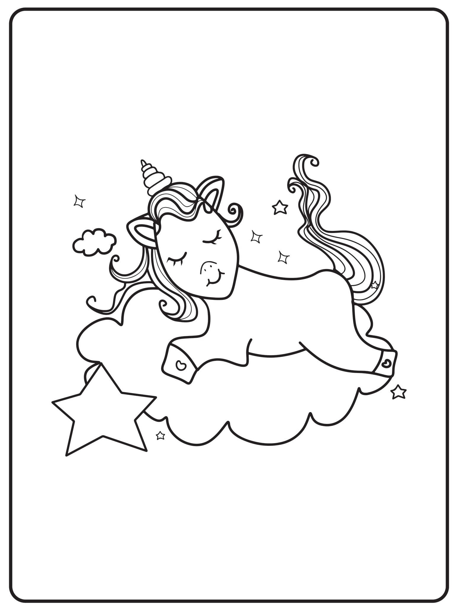 Unicorn Coloring Pages 19
