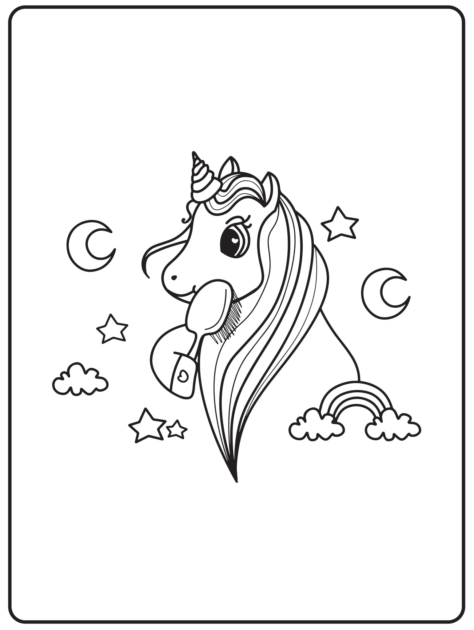 Unicorn Coloring Pages 21