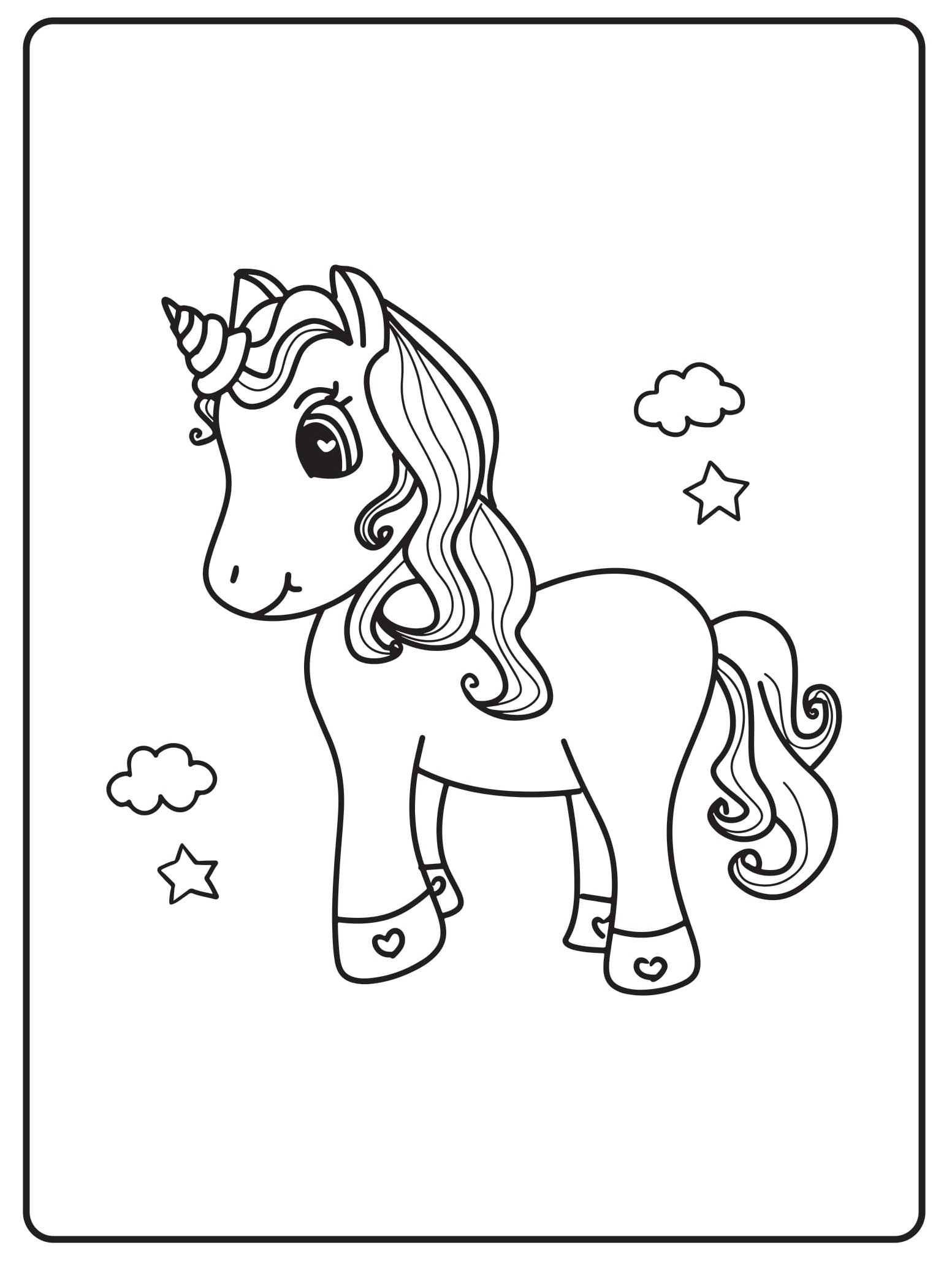 Unicorn Coloring Pages 25