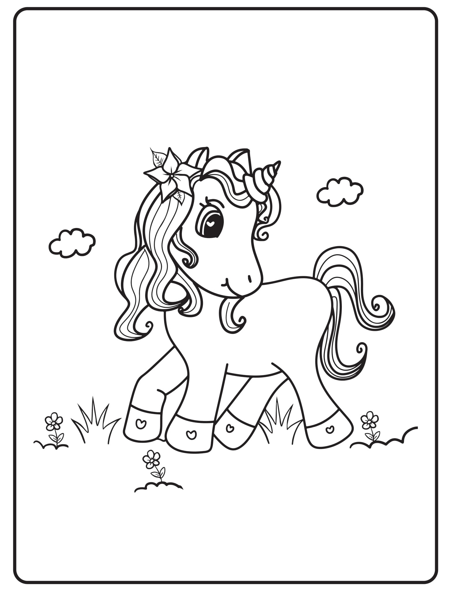 Unicorn Coloring Pages 29