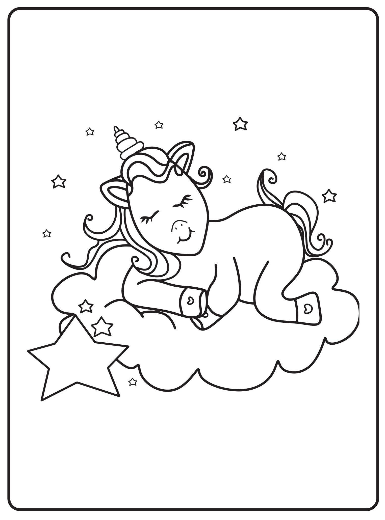 Unicorn Coloring Pages 31