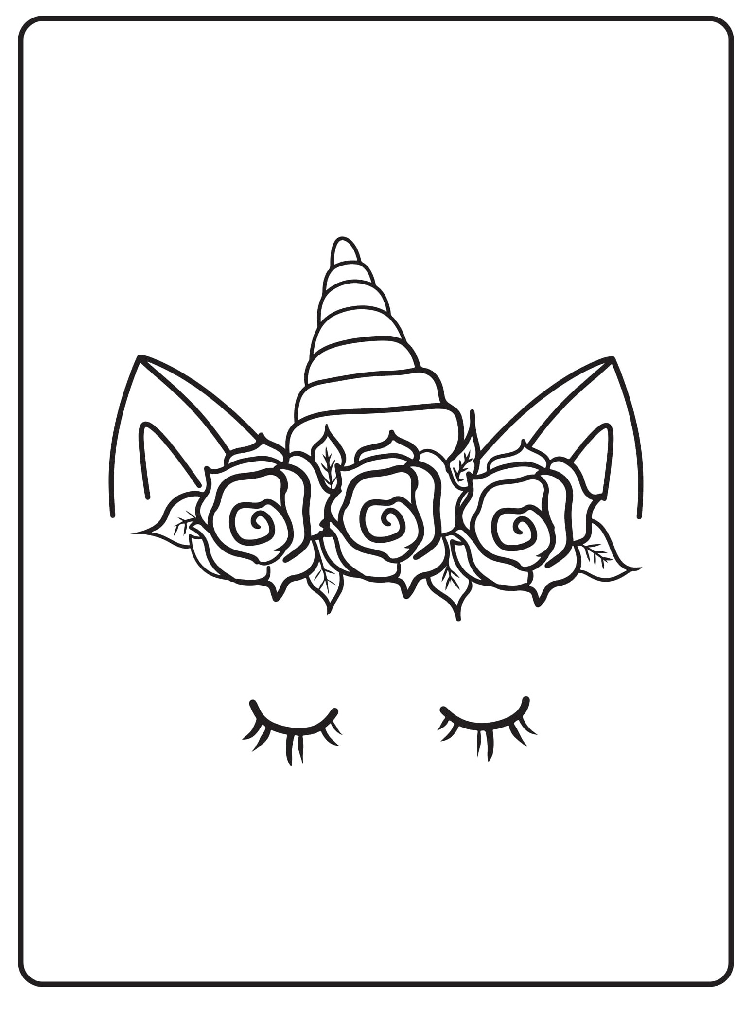 Unicorn Coloring Pages 33