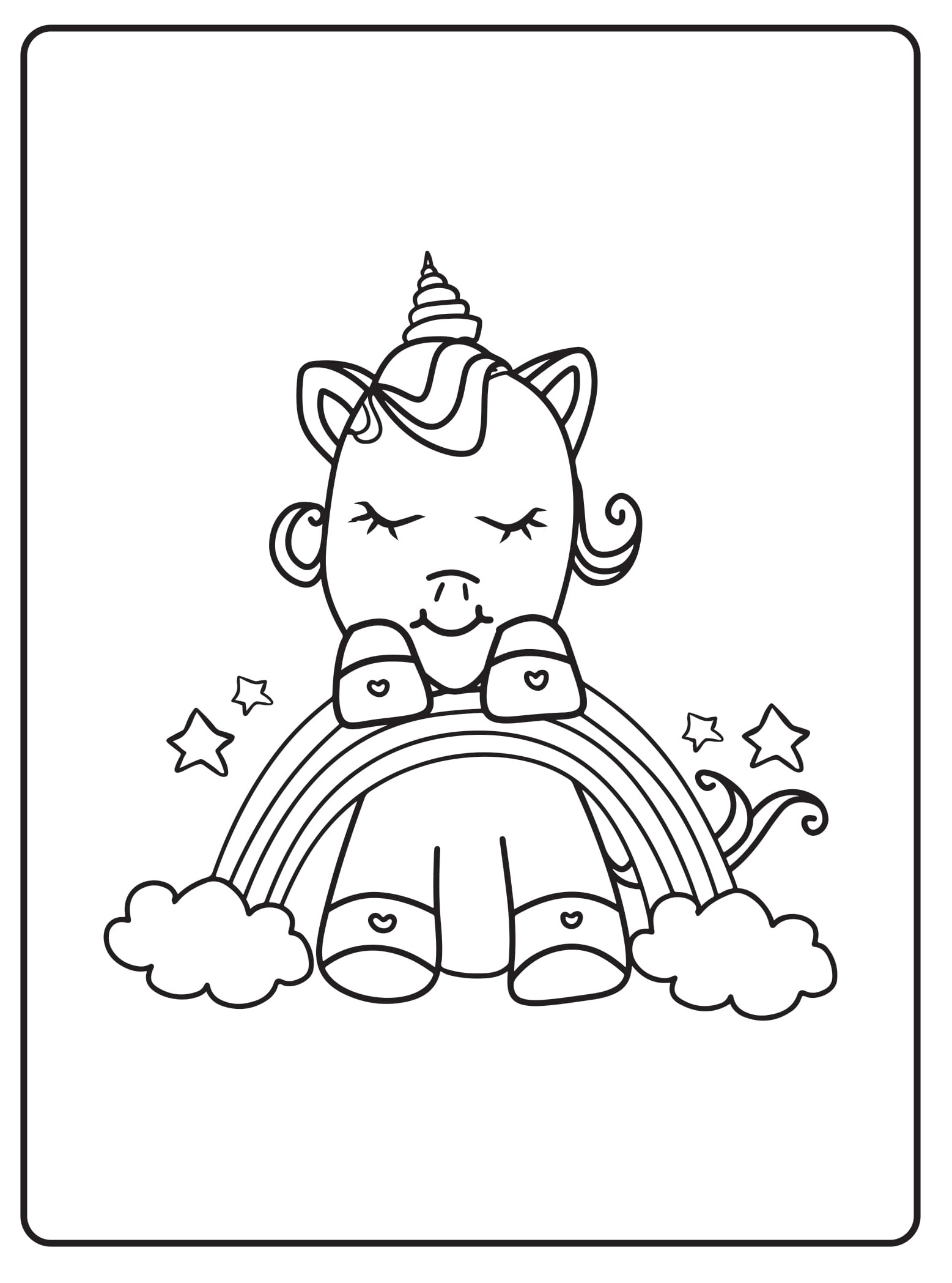 Unicorn Coloring Pages 35