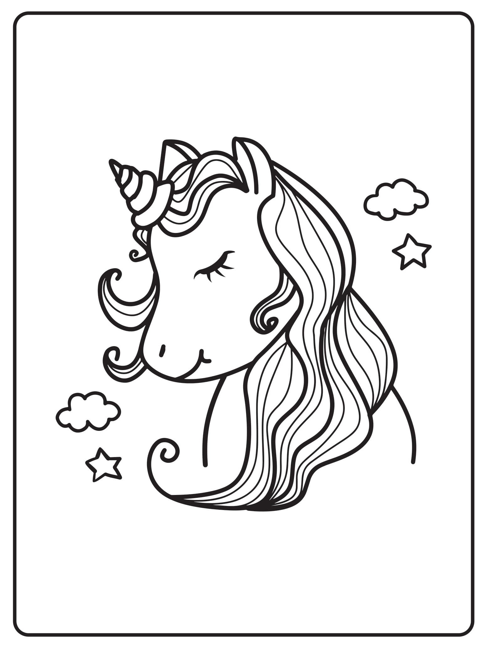 Unicorn Coloring Pages 37