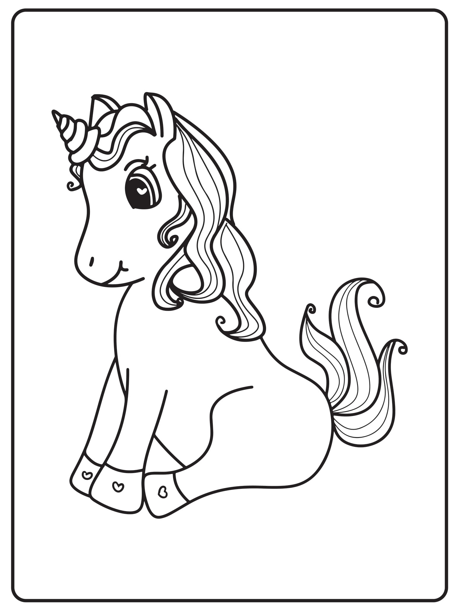 Unicorn Coloring Pages 39