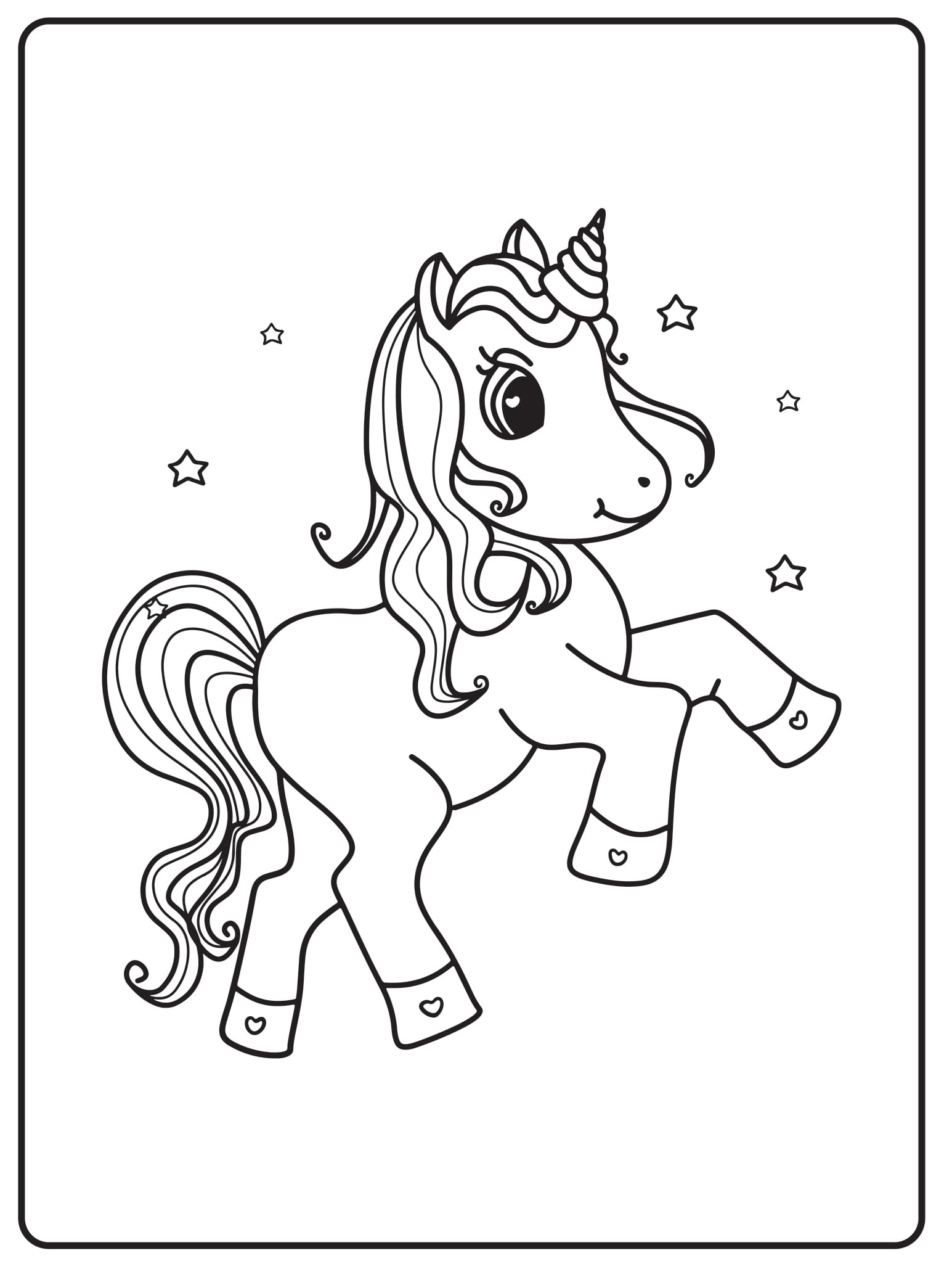 Unicorn Coloring Pages 41