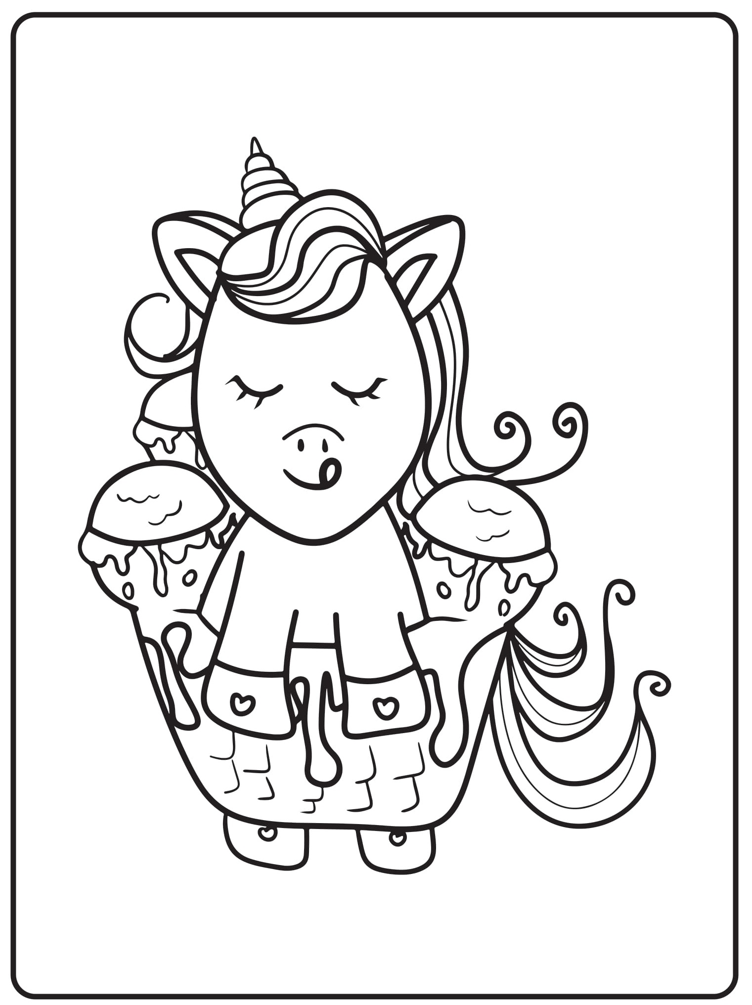 Unicorn Coloring Pages 43