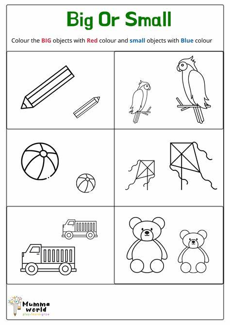 Big And Small Worksheet Colouring Page