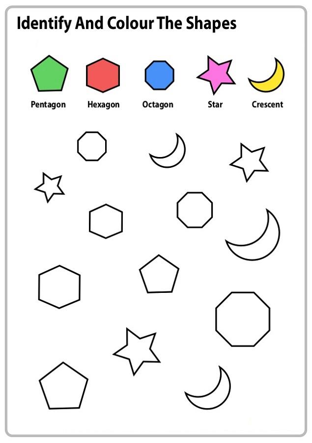 Color The Shape Worksheets