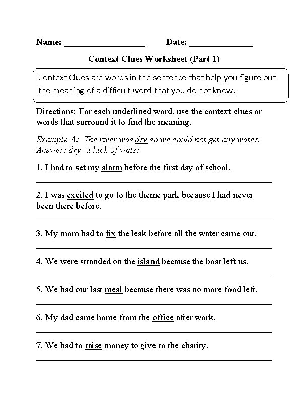 Context Clues Worksheets That Will Make You a Better Reader