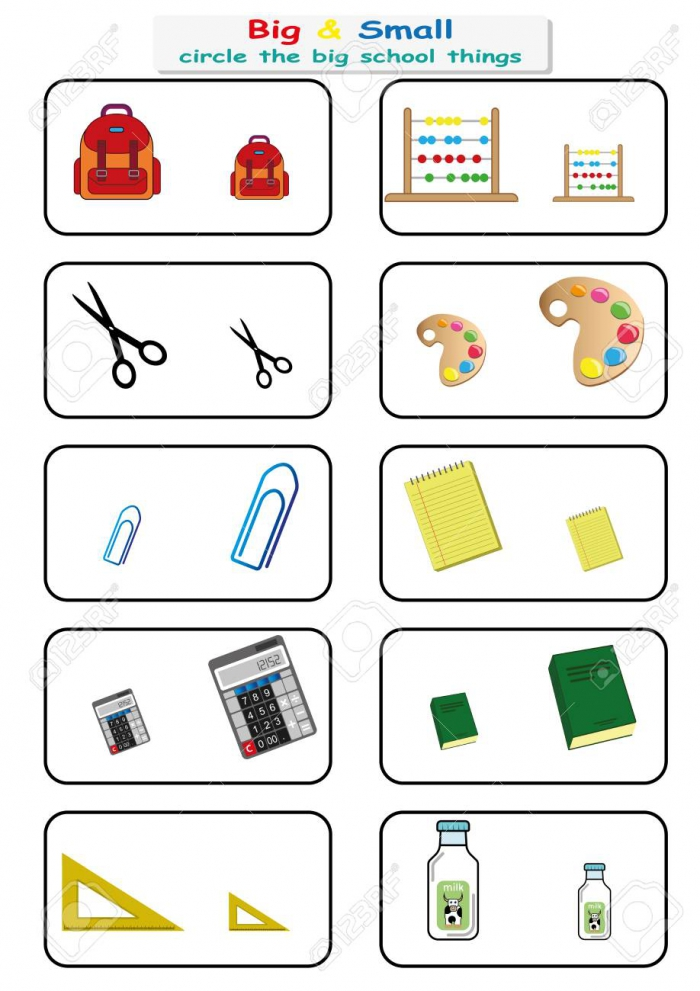 Find And Circle The School Objects Worksheets