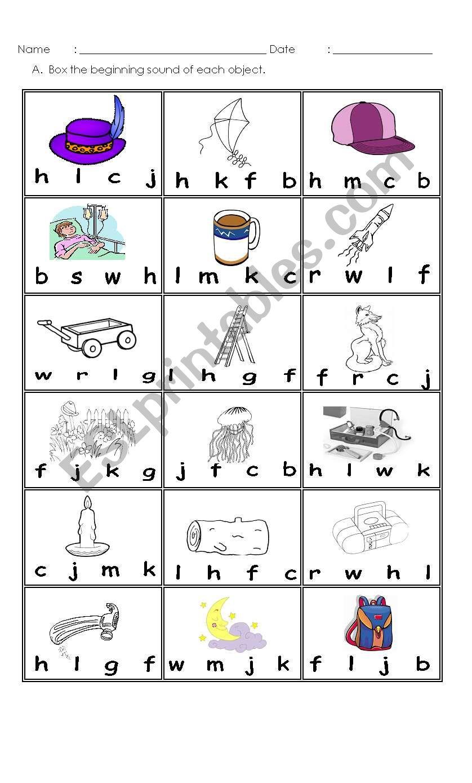 Consonant Beginning Sounds