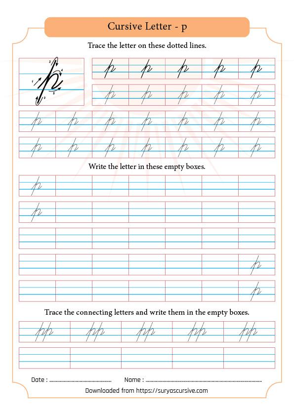 Cursive Letter P In Lowercase