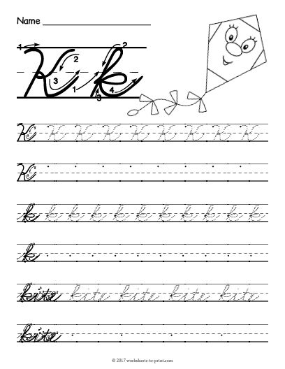 Cursive Writing Worksheets Ideas