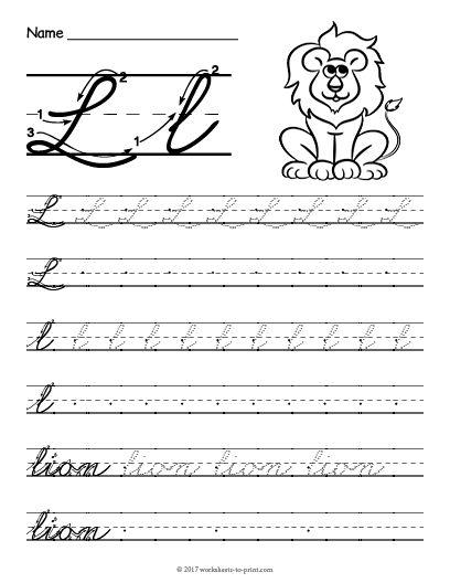 Entertaining Letter L Worksheets For Kids