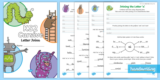 Joined Handwriting Worksheets