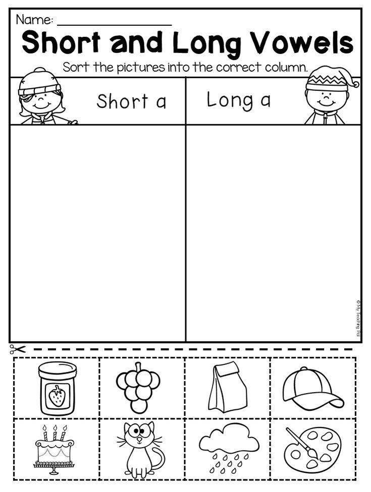 Kindergarten Long And Short Vowel Worksheet This Winter