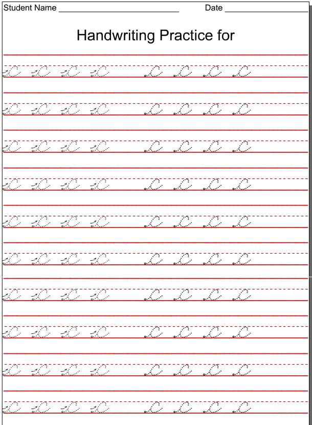 Kindergarten Worksheets Lowercase Cursive