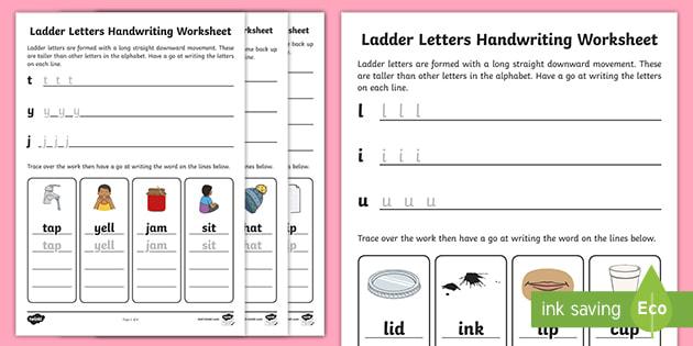 Letter Formation Handwriting Worksheets
