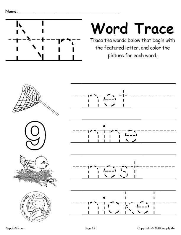 Letter N Words