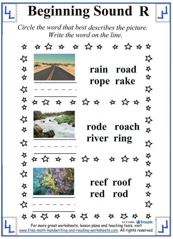 Cursive Words Starting With R Worksheets