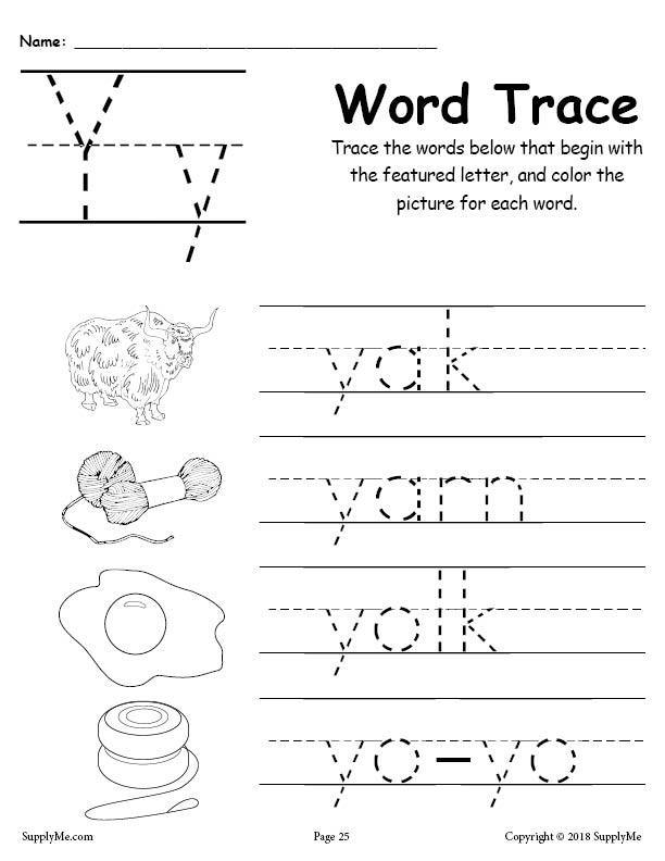 Letter Y Words