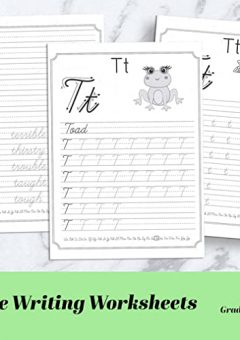 Cursive Words Starting With An A  Worksheets