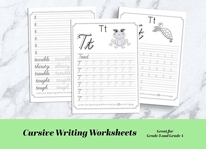 Printable Cursive Writing Practice Worksheets Pdf Lowercase And