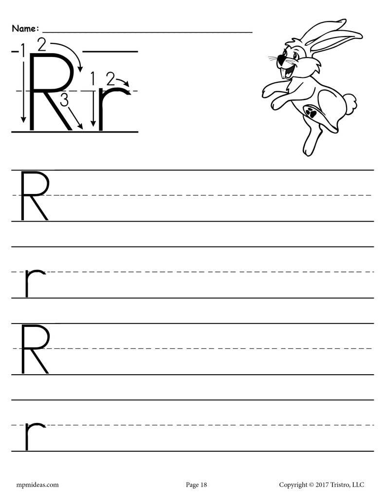 Printable Letter R Handwriting Worksheet Supplyme