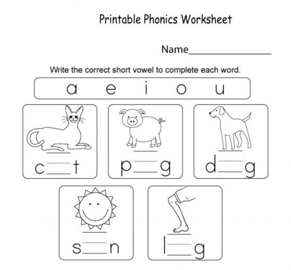 Short Vowel Worksheet Worksheet