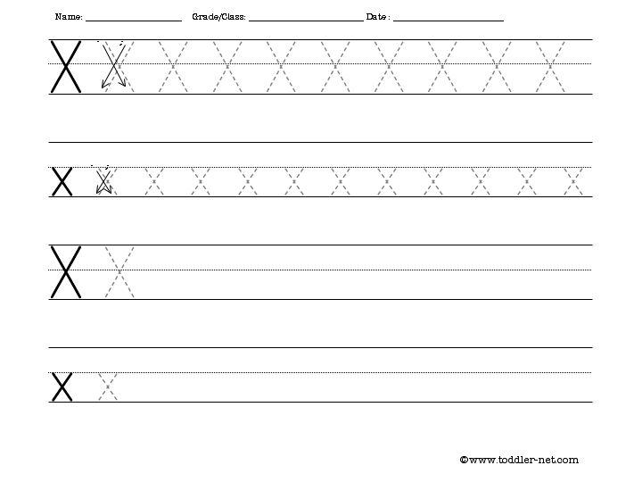 Cursive Writing: Letter X Worksheets