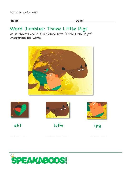 Jumbled letter worksheets for preschool & kindergarten