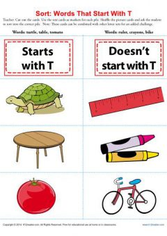 Cursive Words Starting With T Worksheets