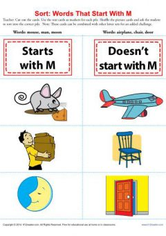 Cursive Words Starting With M Worksheets