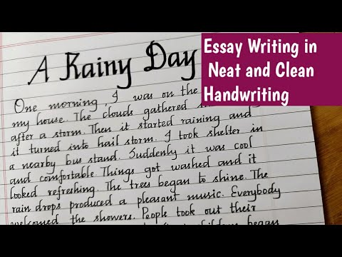 Write A Paragraph About A Rainy Daya Rainy Day