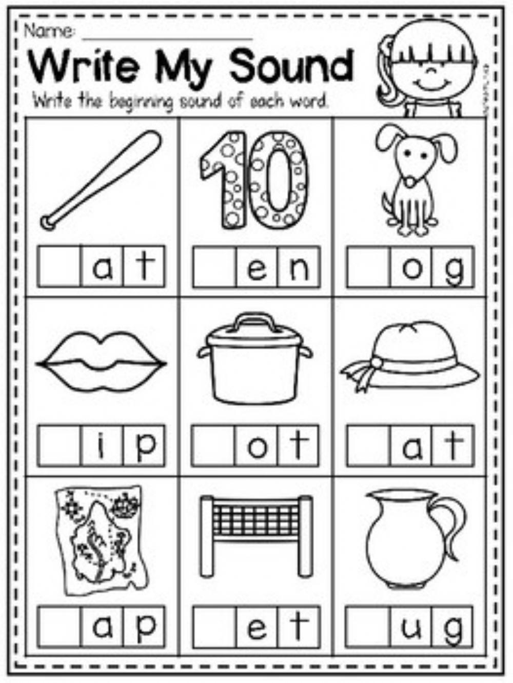 Write The Beginning Letter Worksheet