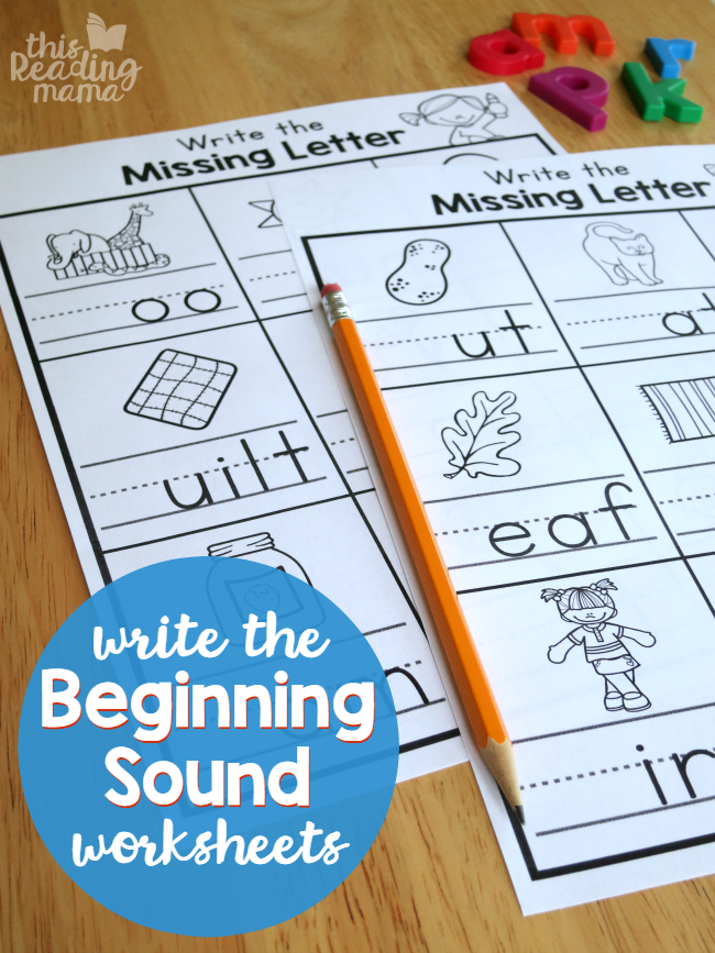 Write The Beginning Sound Worksheets